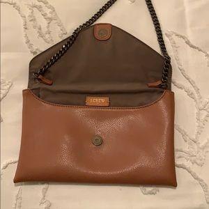 Brown Leather Jcrew Purse/Clutch